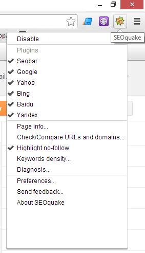 SEOquake-menu-configuración
