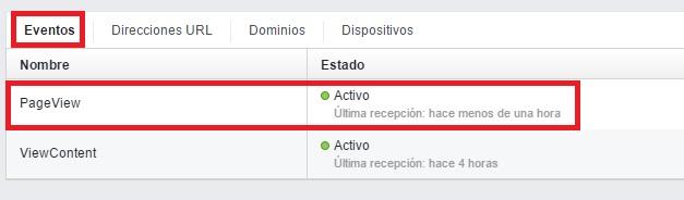 comprobacion pixel activo fb administrador anuncios