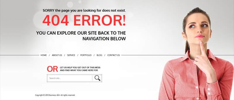 landing page error 404
