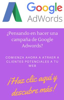 ¿Pensando en hacer una campaña de Google Adwords?