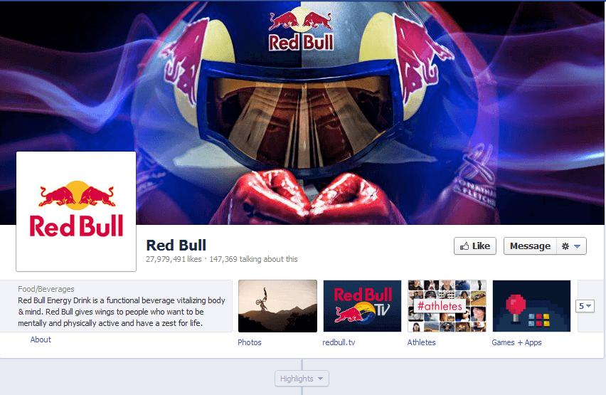 fan page de facebook