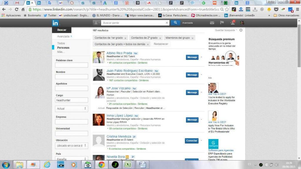 Busqueda avanzada linkedin login trabajo