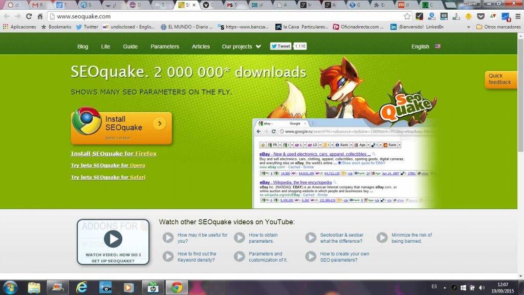 Como instalar seoquake posicionamiento web