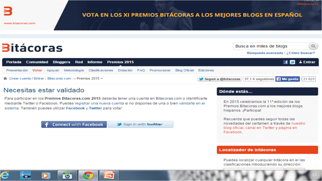 premios bitacoras 2015 como logearte
