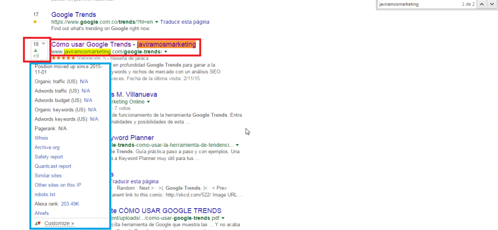 comandos google serptrends