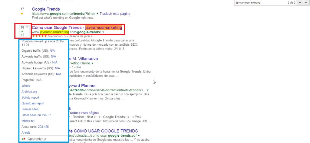 comandos google serptrends