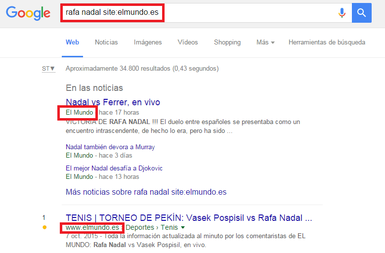 comandos google site