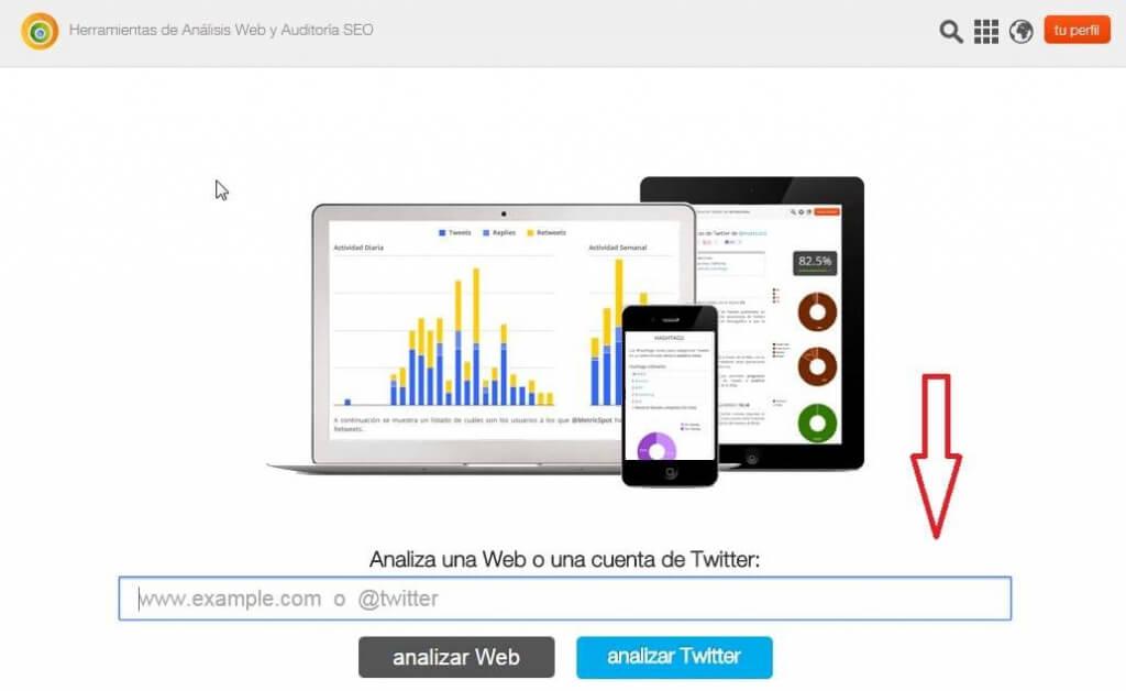metricspot herramienta auditoria seo posicionamiento web