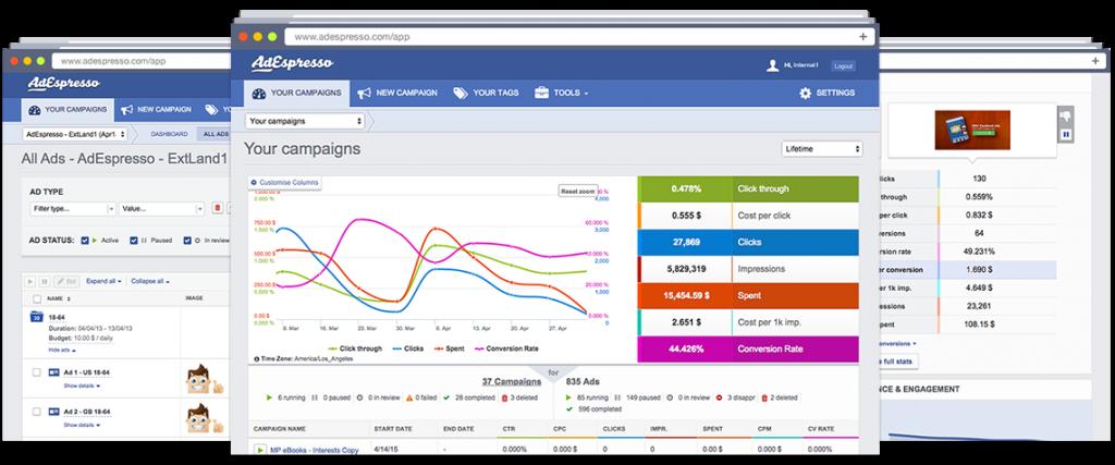 adespresso herramientas fan page de facebook