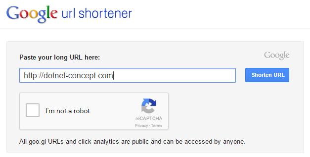 Goo.gl, Google shortener